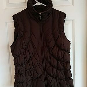 Nine West Separates Brown Down Vest Size L
